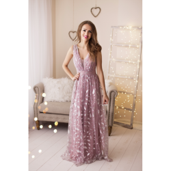 Maxi gown with waistband
