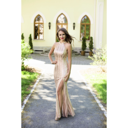 Halter maxi gown