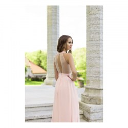 Halter gown with pearls