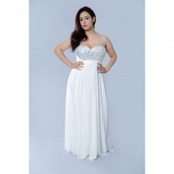 Strapless sheath gown