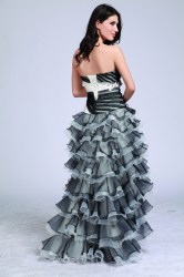 Strapless gala dress
