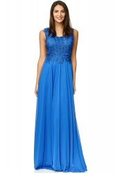 Embroiled maxi gown