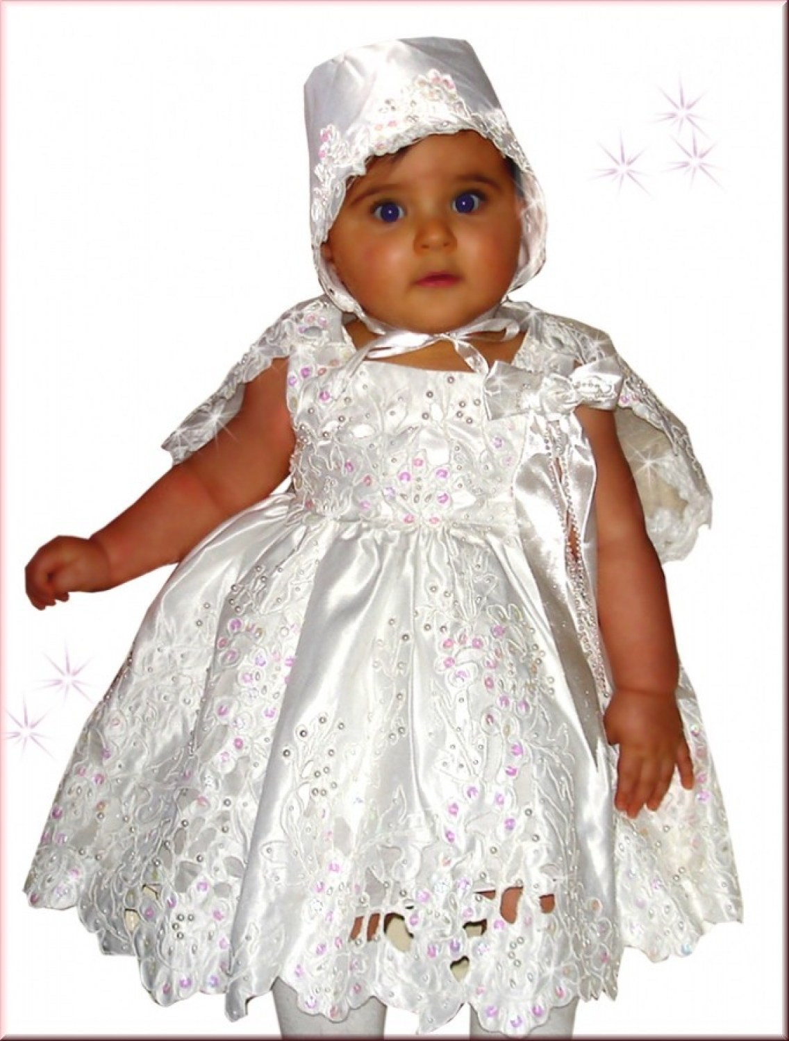 0f32dae95 Christening Gown-Baby Dress, Lace fabric, includes cape